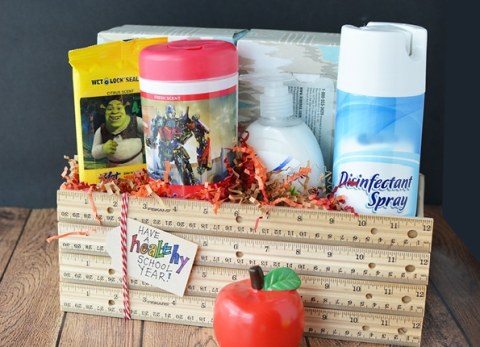 As the kids head back-to-school, wish your child's classroom a healthy school year with this easy Classroom Cleaning Kit.