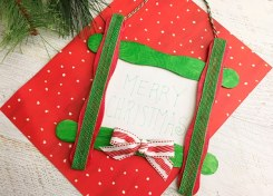 Our Craft Stick Christmas Ornament is easy to make and looks great on the Christmas tree or on top of gifts.