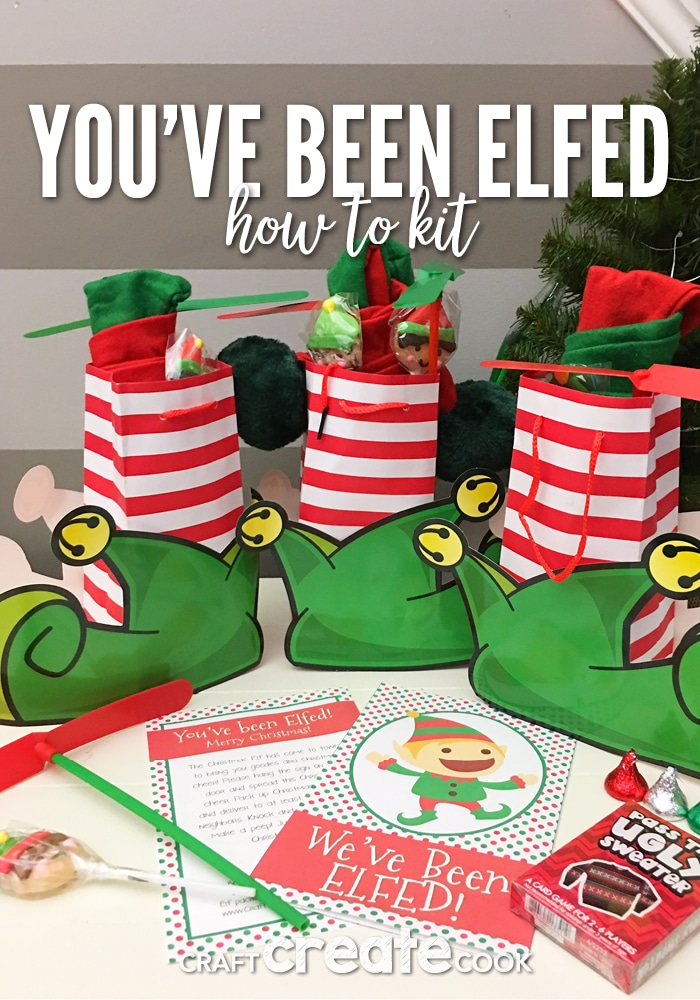 graphic regarding You Ve Been Elfed Printable titled Craft Establish Prepare dinner - Youve Been Elfed with Cost-free Printable