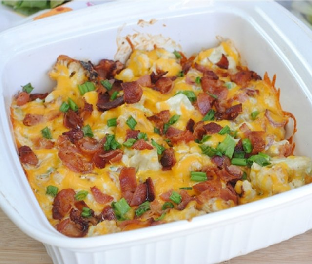 This Keto Friendly Low Carb Loaded Cauliflower Casserole Is Sure To Be A Hit