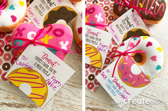 photo relating to Donut Valentine Printable known as Craft Build Cook dinner - Donut Valentines with Totally free Printable