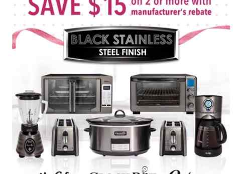 Looking for that perfect gift to surprise Mom with this Mother's Day? Look no further than the Black Stainless Steel Suite kitchen appliance collection from the Oster®, Crock-Pot® and Mr. Coffee® brands!
