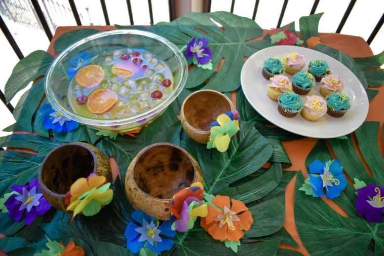 Luau Food Table