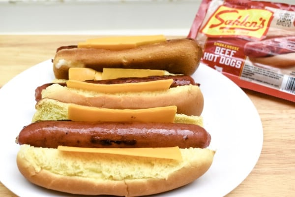 Finished hot dogs.