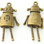 Robot Pendant with Moving Parts - Antique Bronze