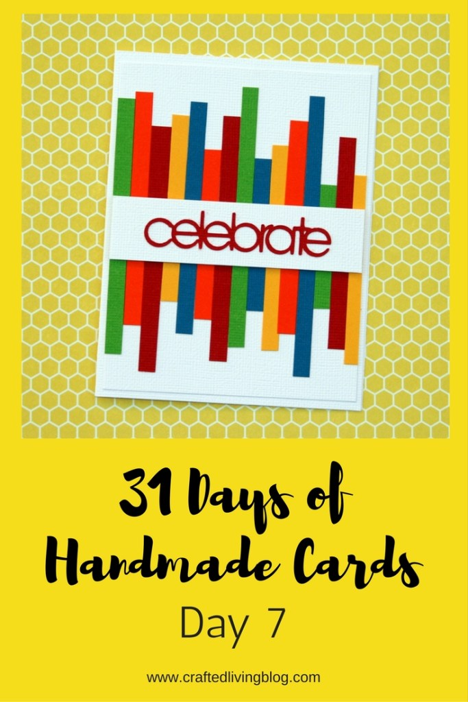 Welcome to Day 7 of 31 Days of Handmade Cards. 31 days of card making tutorials showcasing birthdays, love, thanks and thinking of you.