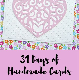 Welcome to Day 14 of 31 Days of Handmade Cards. 31 days of card making tutorials showcasing birthdays, love, thanks and thinking of you.