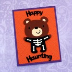Skeleton Bear Halloween Card
