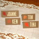 Thanksgiving Paper Place Cards