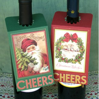 Christmas Wine Bottle Gift Tags #gifttags #christmastags #diychristmas #winetags