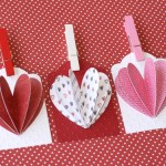 3D Paper Heart Tags