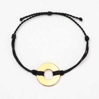 refill twist bracelet black gold