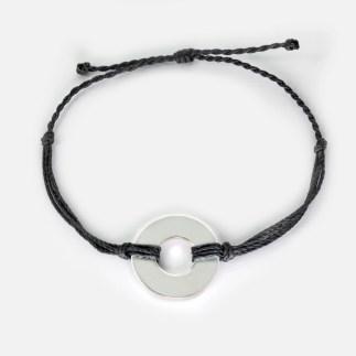 refill twist bracelet black silver