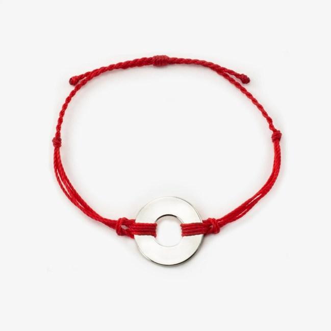 refill twist bracelet red silver