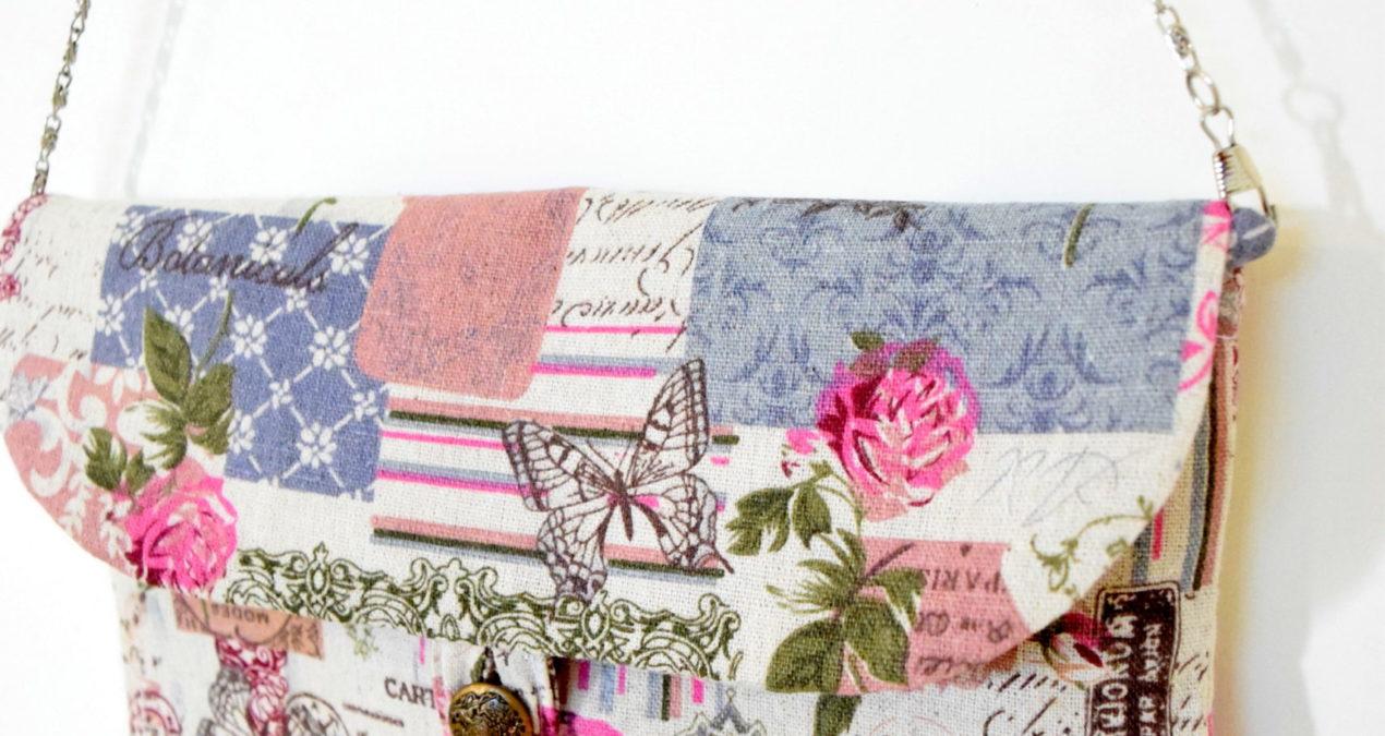 Pink Floral Design Satchel