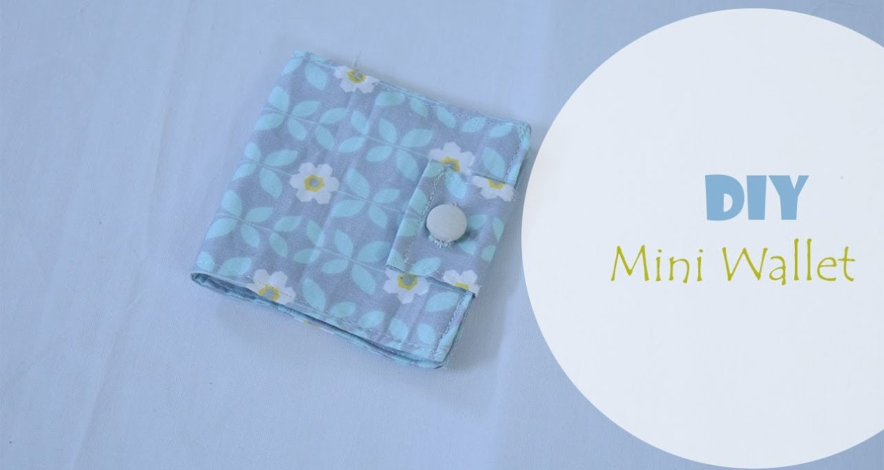 Easy to make Mini Fabric Wallet