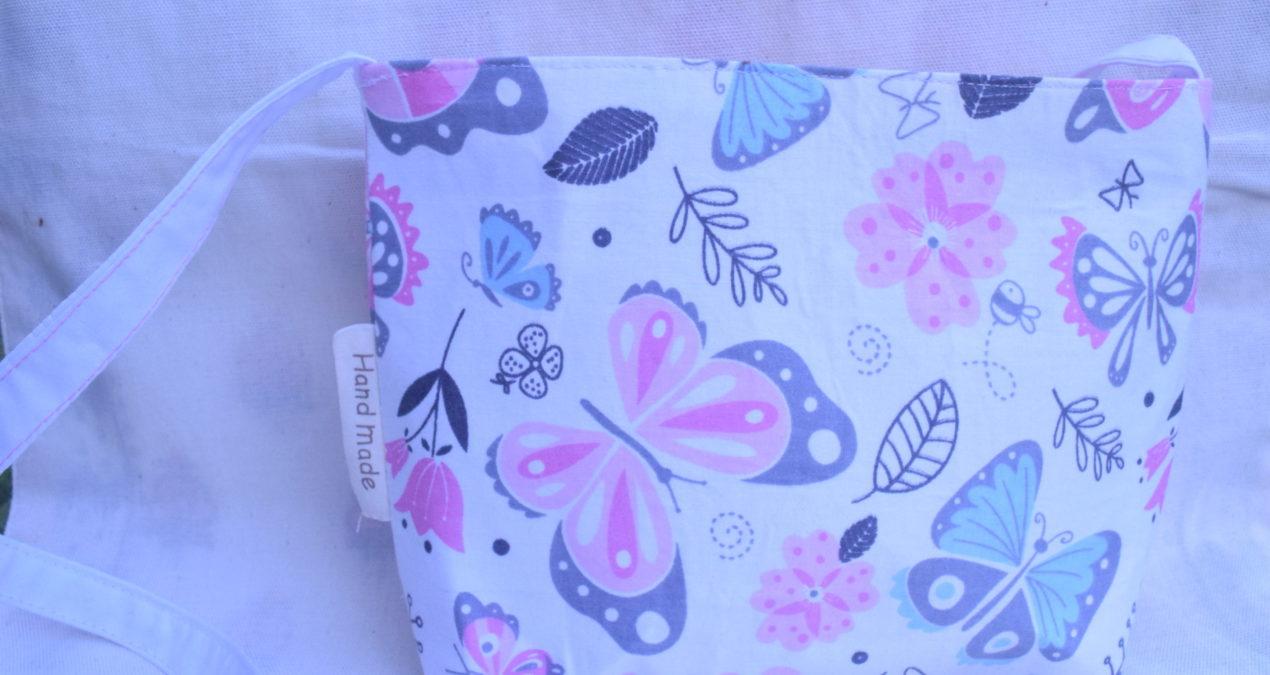 Girls Side Shoulder Bag (White floral)