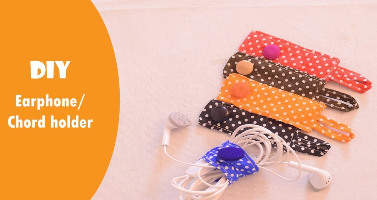 Fabric Cable Organizer – DIY in 5 Minutes !