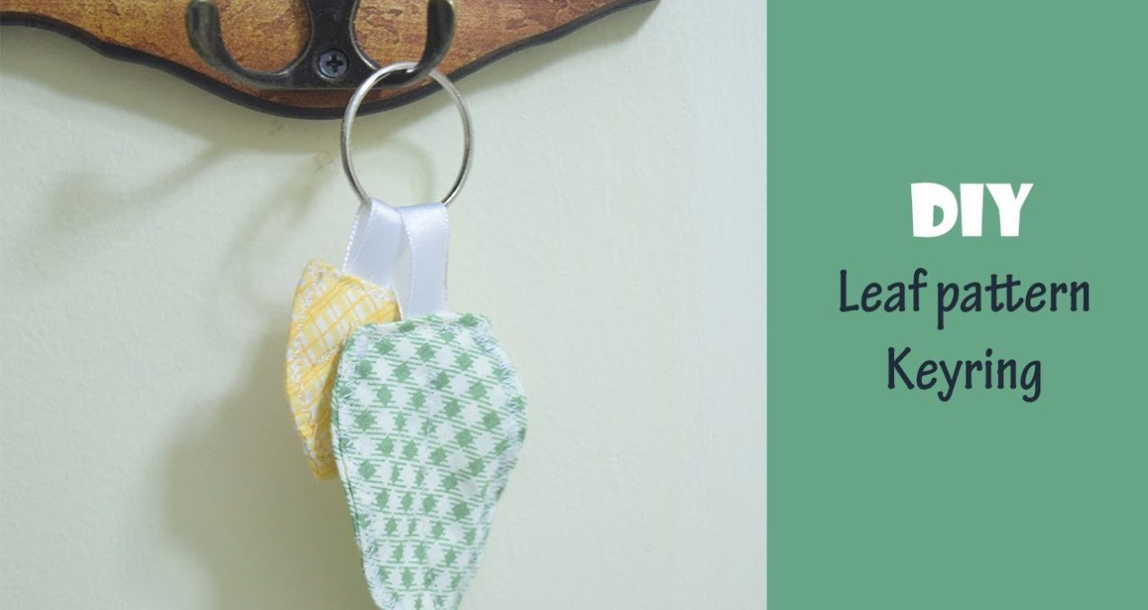DIY Easy to Make in 5 minutes Leaf Pattern Key ring Project