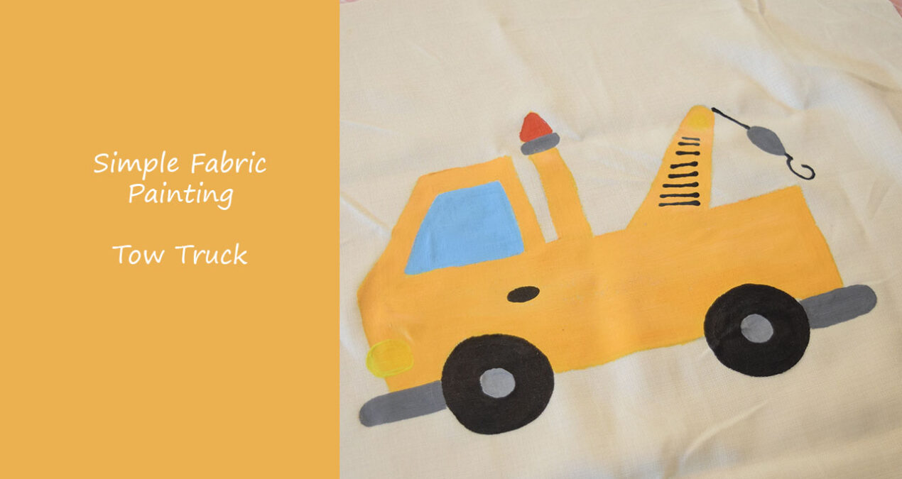 Paint A Tow Truck on Fabric- Time Lapse Video