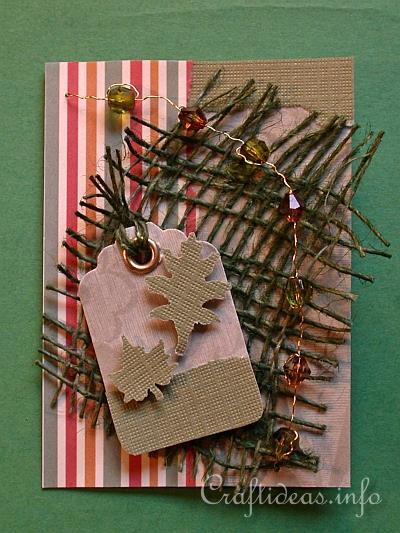 Artist Trading Cards Crafts Fall Leaves ATC