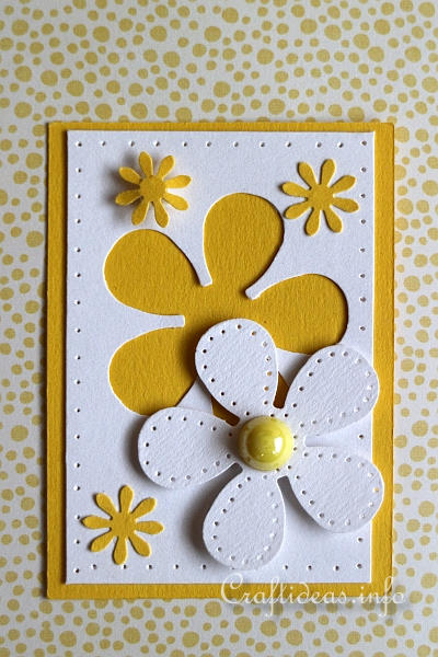 Free Crafts And Ideas Artist Trading Card Daisy ATC