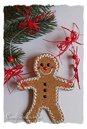 Free Christmas Craft Project Gingerbread Man Ornament