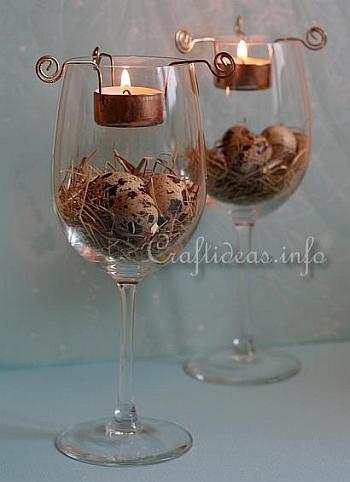 Decoration Idea For Easter Easter Tea Light Centerpiece