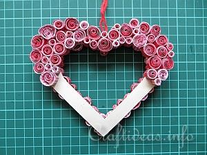Paper Craft Decoration For Valentines Day Or Mothers Day