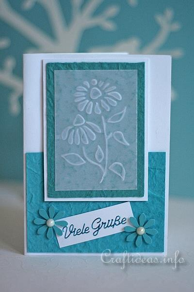 Summer Greeting And Birthday Card Embossed Daisies