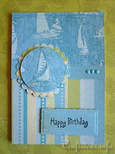 Paper And Card Crafts Maritime Birthday Card For Men