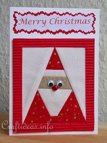 Craft A Card For Christmas Patchwork Santa