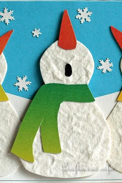 Christmas And Winter Card Craft Snowman Trio Card