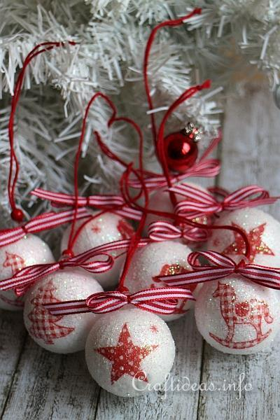 Christmas Ornaments To Craft Paper Napkin Decoupage