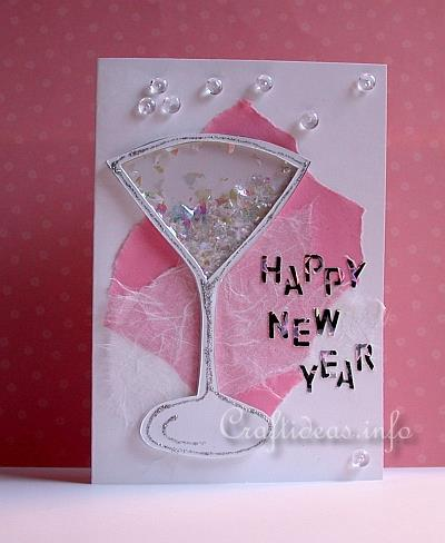 Craft A New Years Greeting Card Or Invitation Shaker