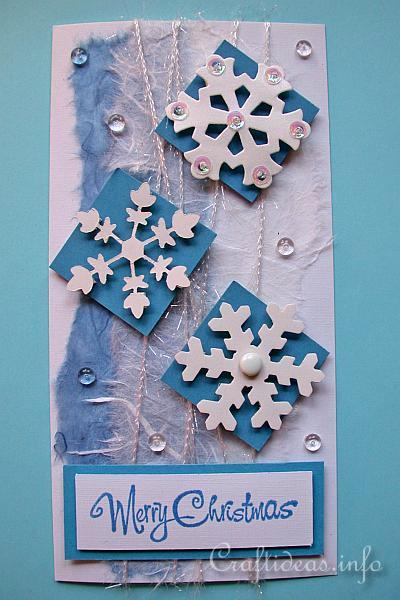 Christmas Crafts Christmas Cards Winter Snowflakes