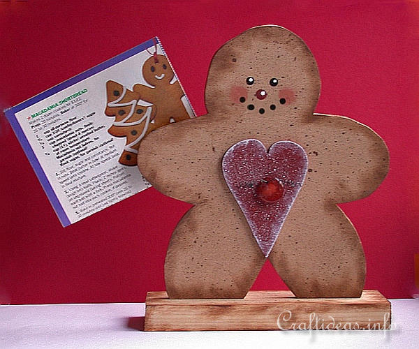 Wood Crafts With Free Patterns Christmas Scrollsaw Project Wooden Gingerbread Man
