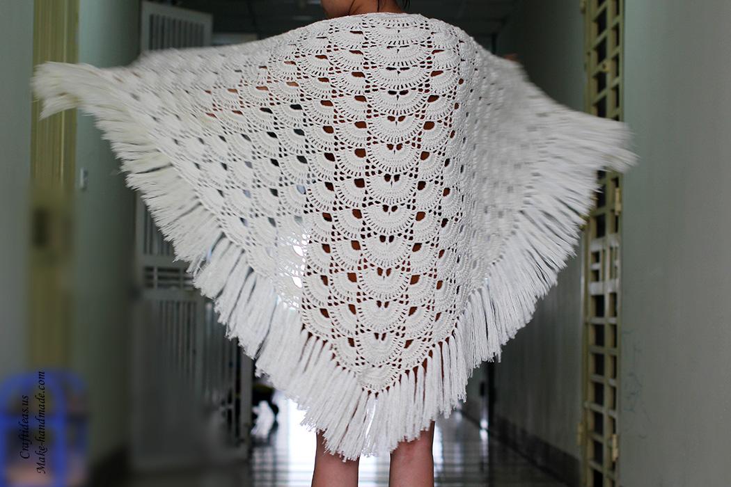 Crochet Beauty Lace Shawl Craft Ideas