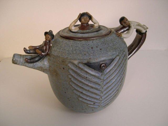 Jerome Ackerman, Figures on a Teapot, 2004