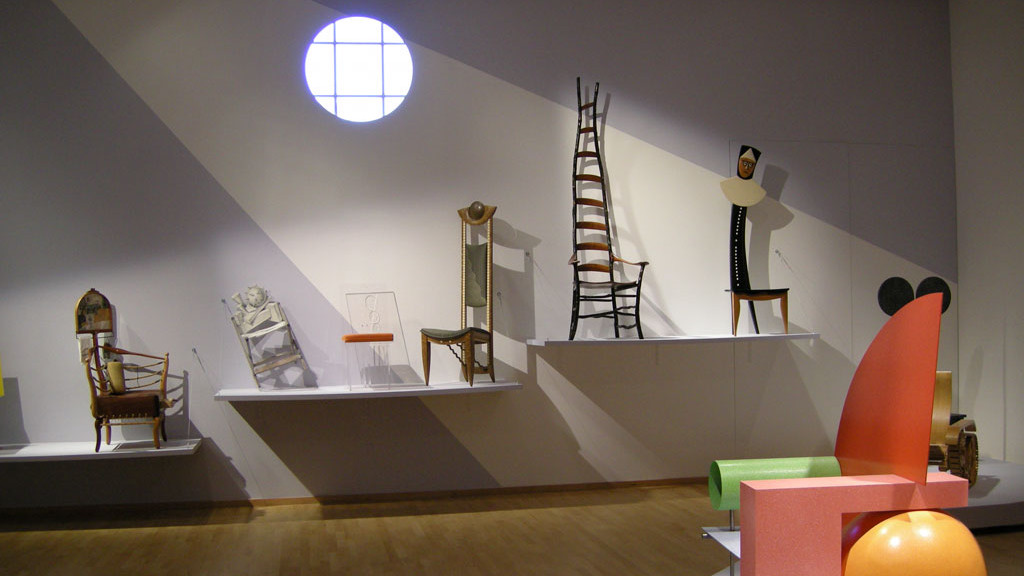 Chair installation at the Mingei International Museum