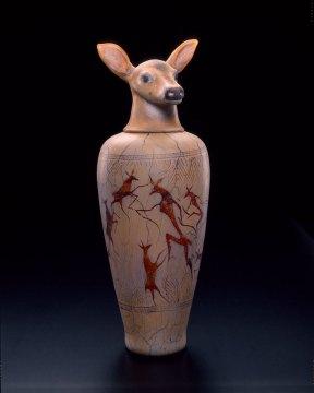 William Morris, Canopic Jar: Doe, 1993. Robert Vinnedge photograph
