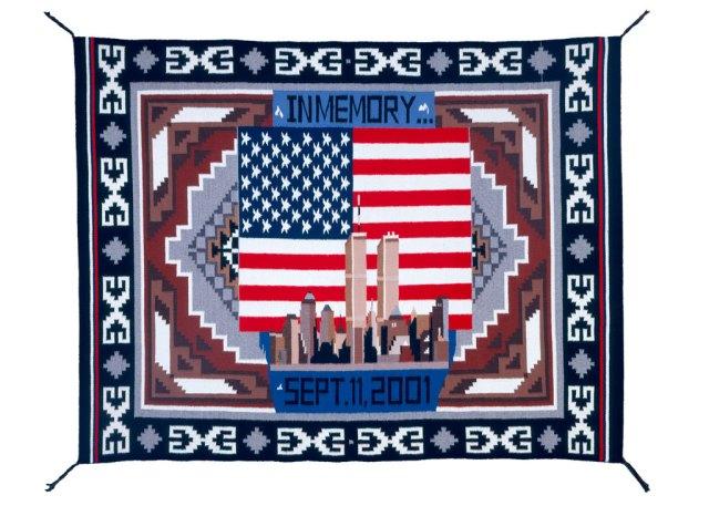 Ella Henderson, (Navajo) Woven Rug, 2001. Courtesy National Cowboy & Western Heritage Museum
