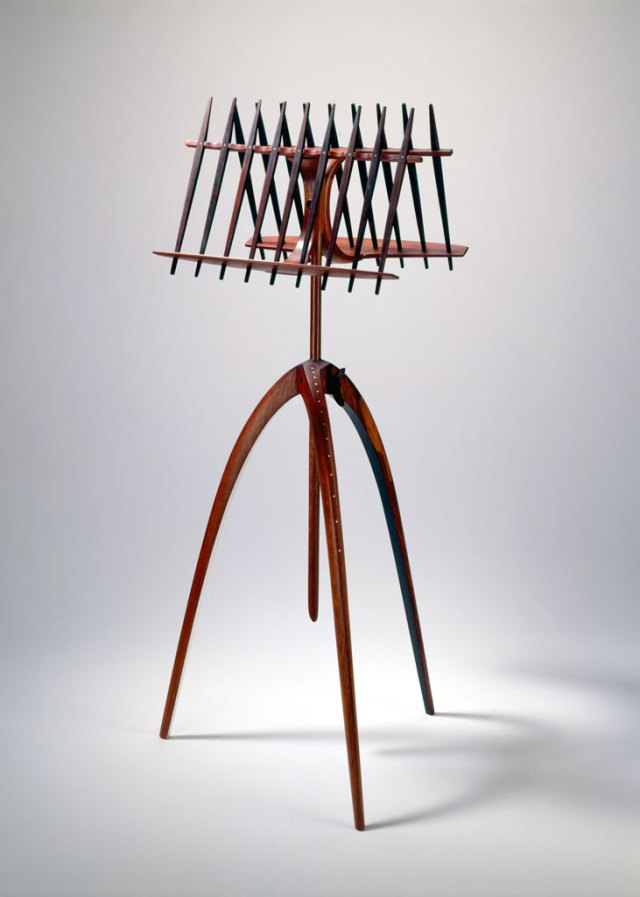 Arthur Espenet Carpenter, Music Stand, c. 1962. Courtesy Forrest L. Merrill, M. Lee Fatheree photograph