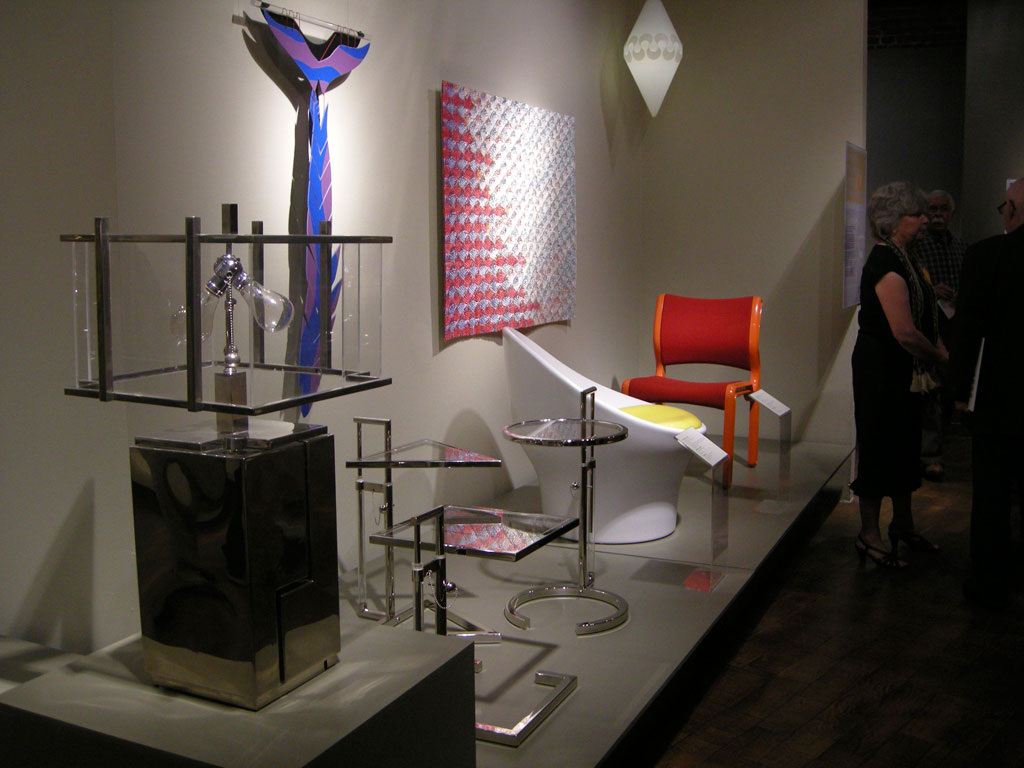 Arline Fisch, A Whale of a Necklace; Douglas Deeds, Series 3000 Chair; Lia Cook, Fire Pocket Piece; Donald Chadwick, Side Chair