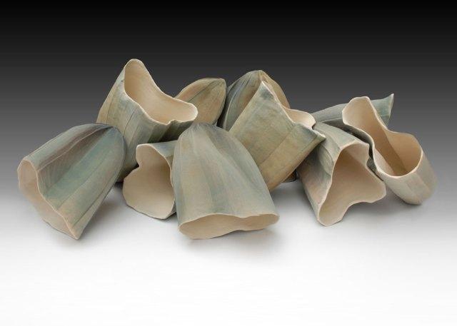 Lisa Truax, Forgotten Place, 2007. Earthenware with layered glazes, hand built, Jeffery Truaz, Saborah Imaging