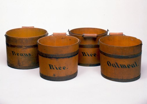 Shaker Community, Pails for Kitchen Use. Courtesy of Canterbury NH Shaker Museum and Library Old Chatham and New Lebanon NY