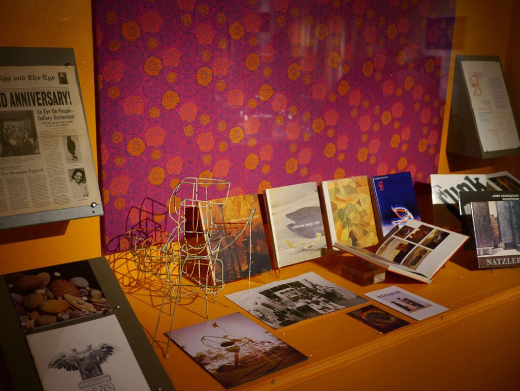 Ephemera from California Design & CAFAM; Mary Jane Leland, Zinnia; Svetozar Radakovich, Study for Climber