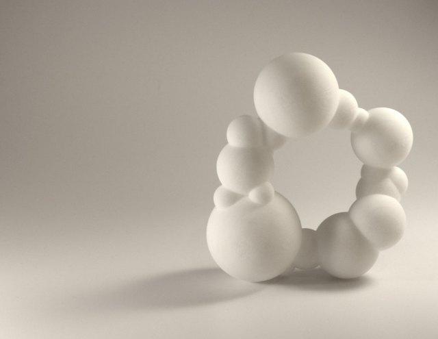 Arthur Hash, Bubble Bracelet, 2007. ABS plastic