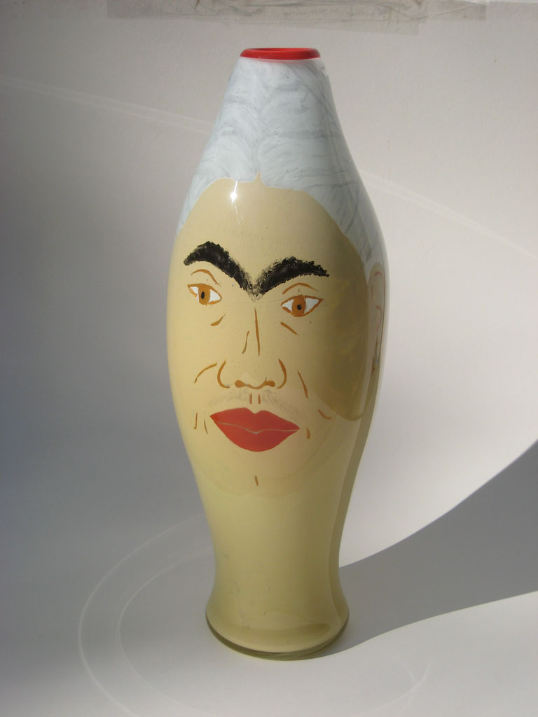Frida, 1992. Painted and blown glass, 21 x 7 x 7, Collection of Susan Stinsmuehlen-Amend, Russell Johnson photograph