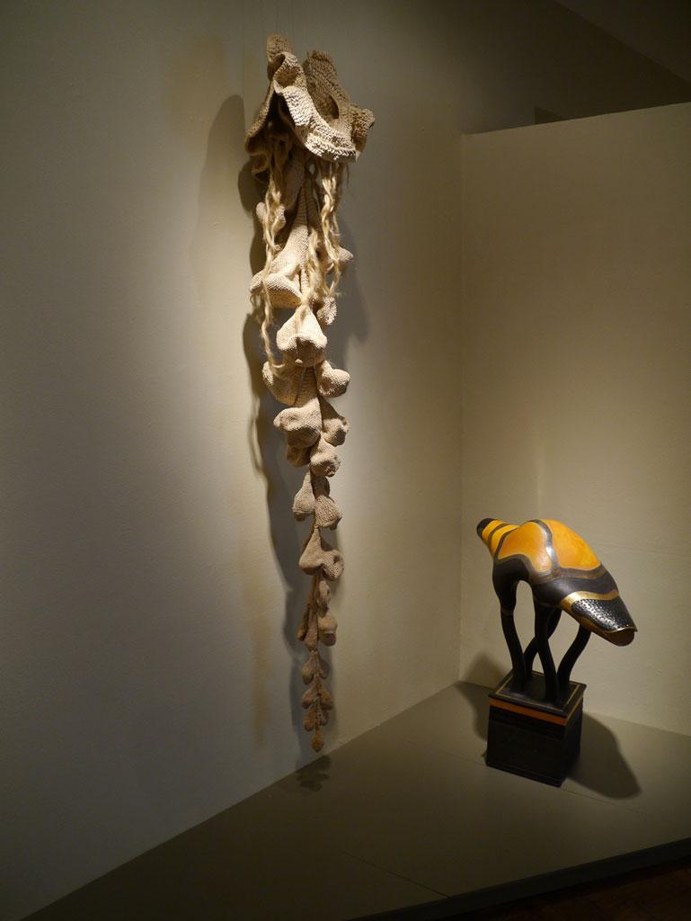 Hiromi Oda, Untitled; Ralph Bacerra, Animal Sculpture